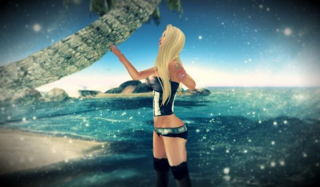 magia en la playa